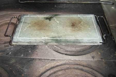 Wstępne podgrzanie płyty kamiennej.